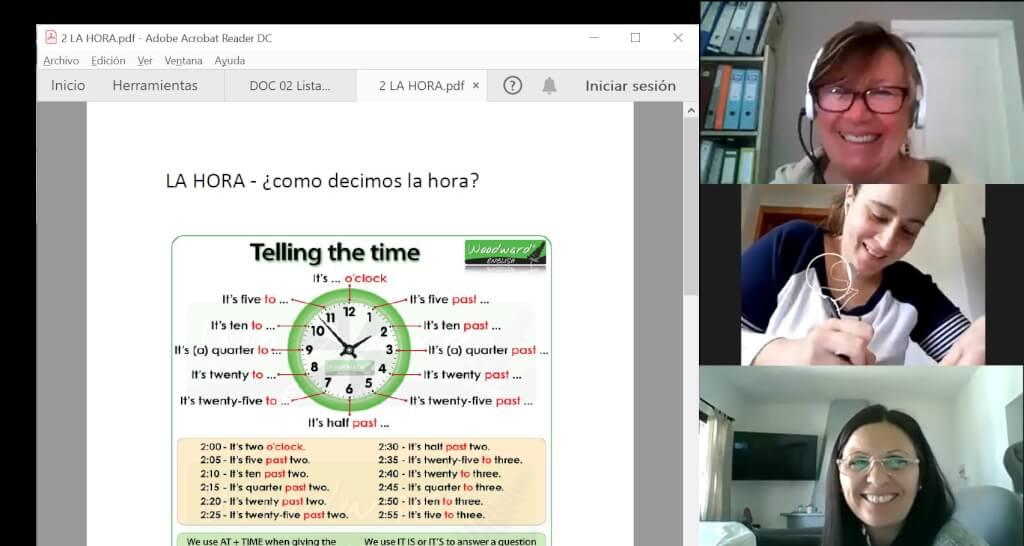 Curso inglés en aula virtual